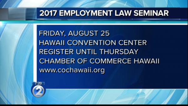 2017 Hawaii Employment Law Seminar Program